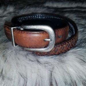 Accessories - Oiled Cowhide Braided Reversible Black & Brown